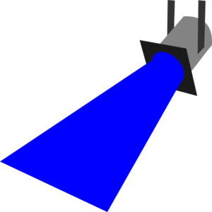 300x300 Spot Light Blue Clip Art