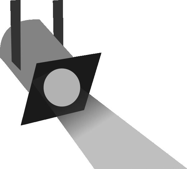 600x541 Spotlight Grey Scale 5 Clip Art