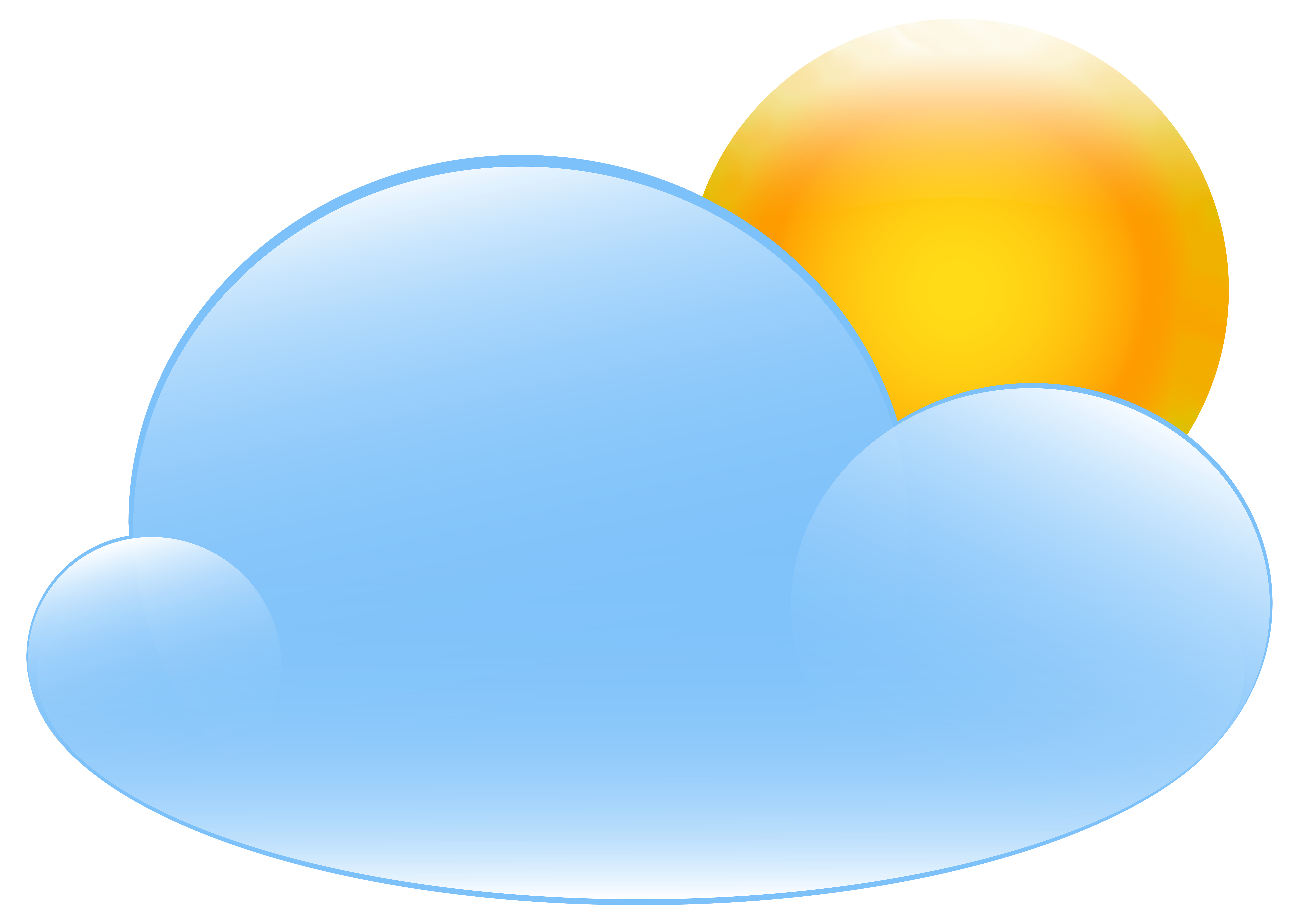 8000x5690 Partly Cloudy With Sun Weather Icon Png Clip Art