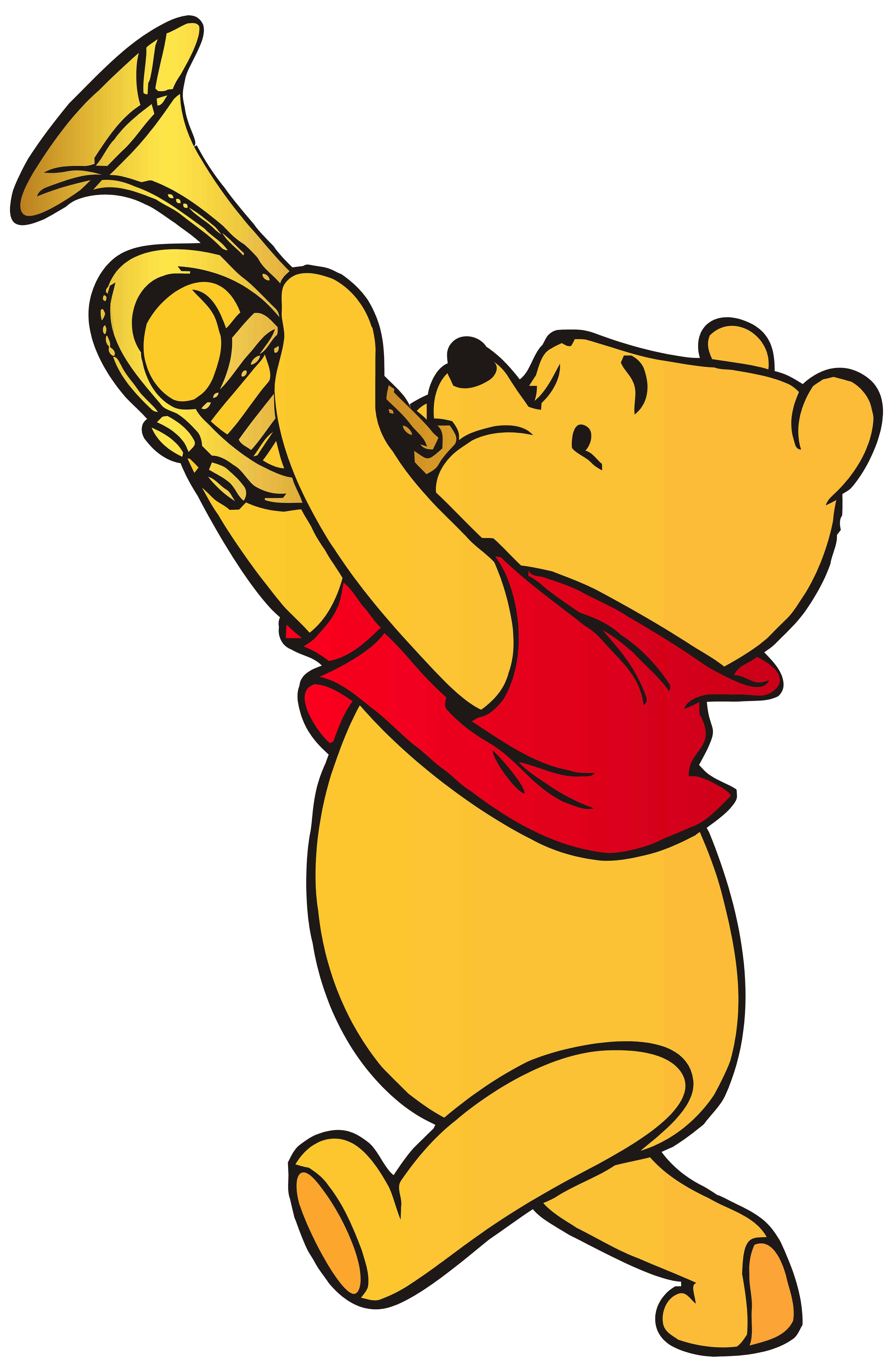 5209x8000 Winnie The Pooh Playing Trumpet Png Clip Art