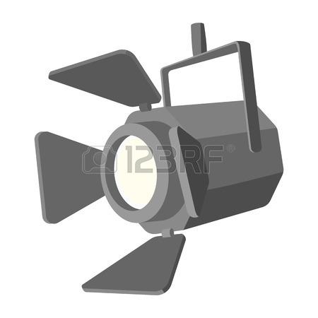 450x450 Movie Spotlight Icon In Cartoon Style On Transparent Background