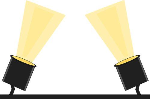 500x329 Spotlight Spot Light Clip Art