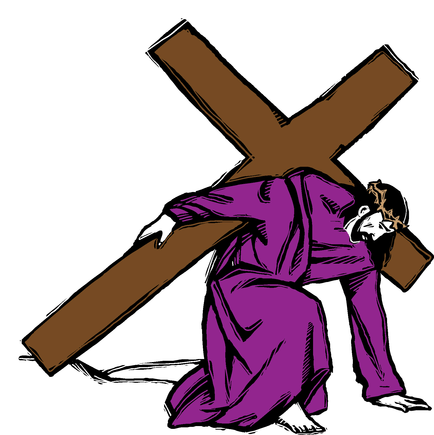 1701x1706 Jesus Carrying Cross Spotlight Clipart Clipartfox 3