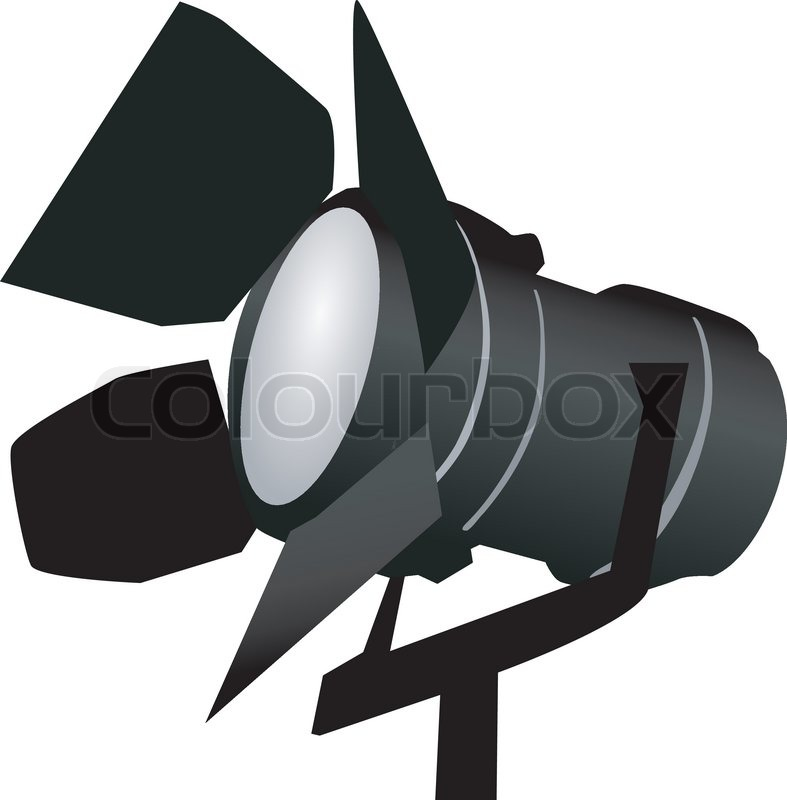 787x800 Black Spotlight On White Stock Vector Colourbox