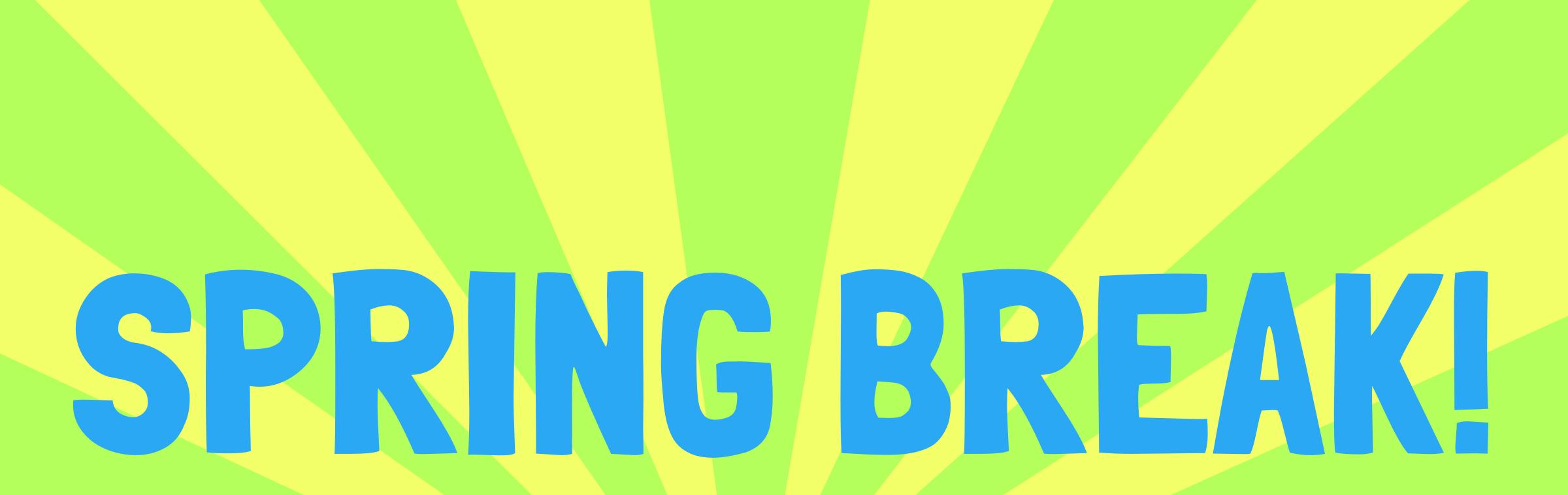 2400x759 Spring Break Clip Art 7