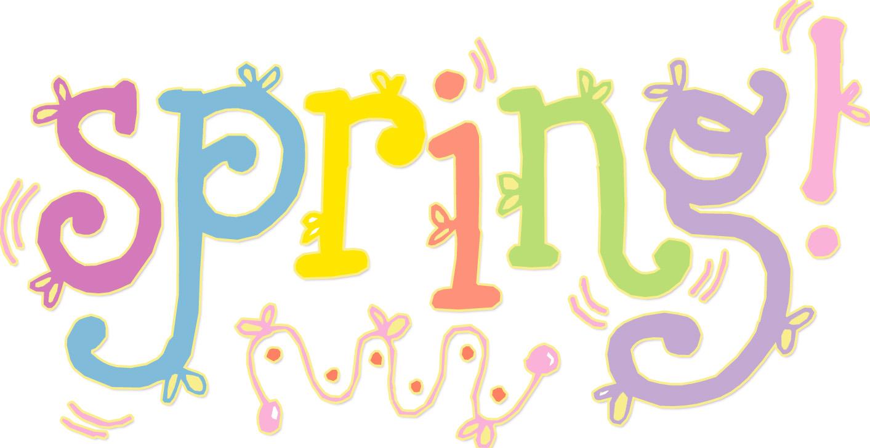 1413x727 Spring Clipart Word Art