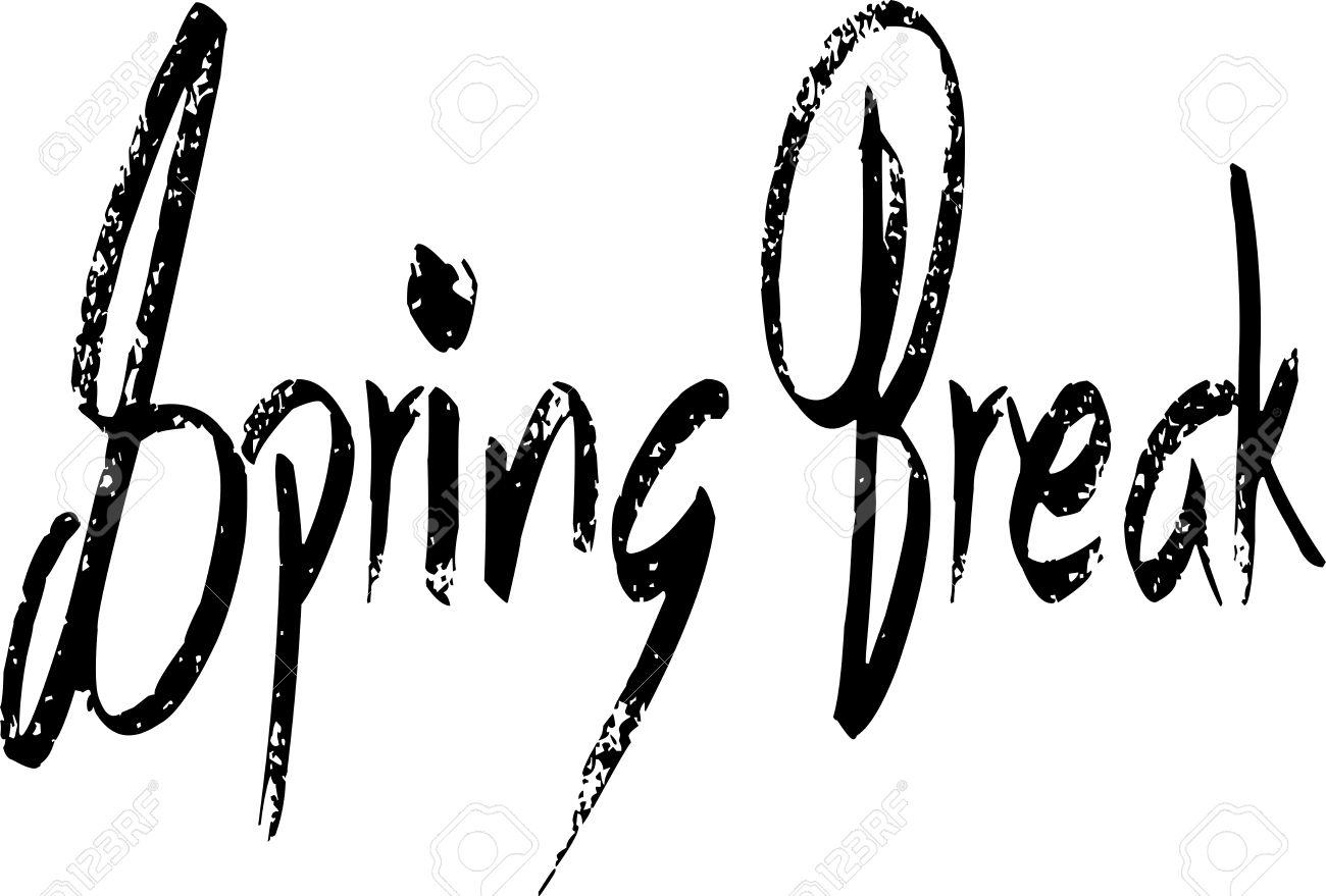 1300x879 Spring Break Clipart Black And White