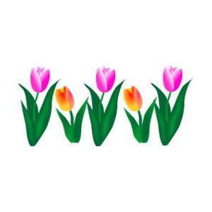 300x300 April Flowers Clip Art
