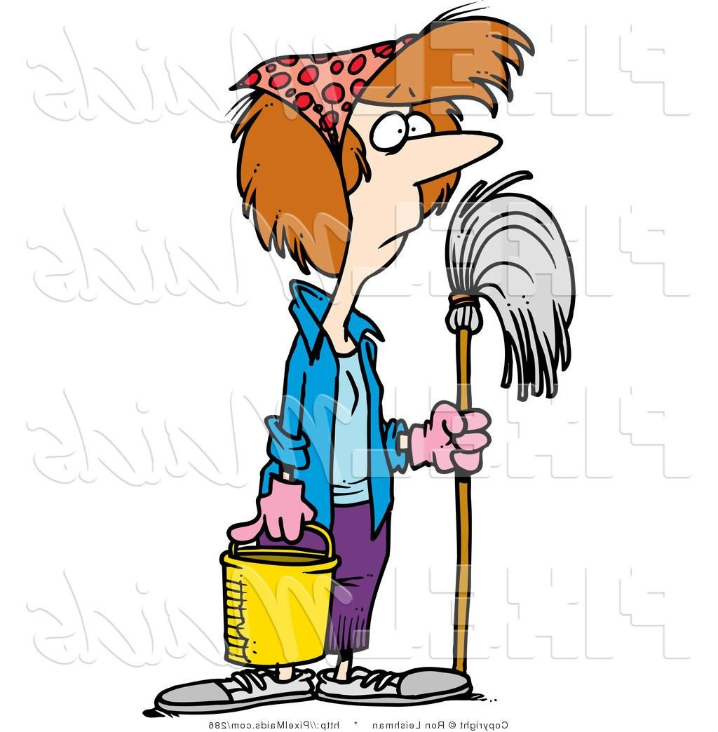 1024x1044 Hd Clipart Of Spring Cleaning Housewife By Toonaday Pictures