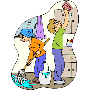 300x300 Child Clipart Cleaning House