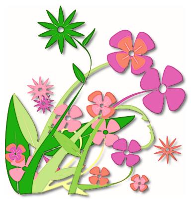 384x405 spring clip art