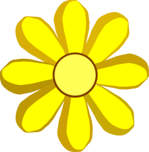 292x297 Yellow Spring Flower Clip Art