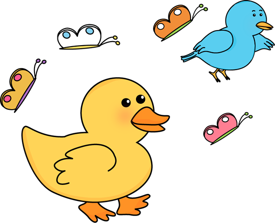 550x445 Spring Critters Clip Art