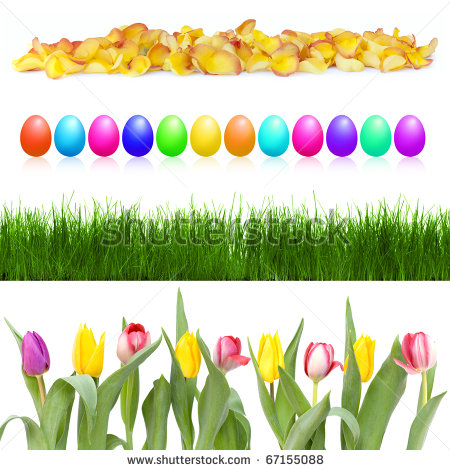 450x470 Clipart Row Of Flowers