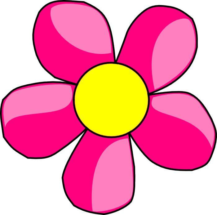Spring flower border clipart free download best spring flower 700x693 pink flower clip art mightylinksfo