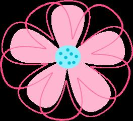 264x241 Pink Flower Clip Art