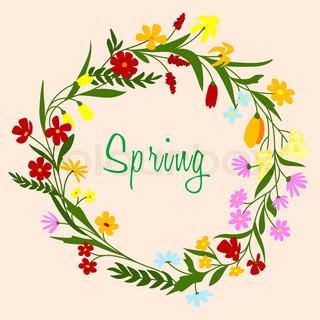 320x320 Seamless Horizontal Spring Border With Yellow Daffodils Stock