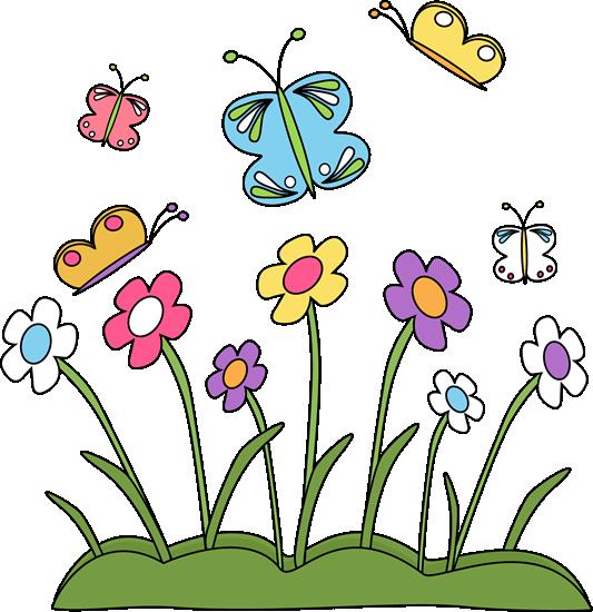 533x550 Spring Flowers Clip Art Border (Id 72444) Buzzerg