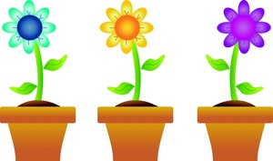 300x177 Spring Flowers Border Clipart Free Clipart Images 3