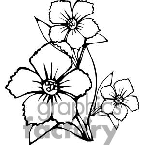 300x300 Clipart Spring Flowers Black And White Clipart Panda