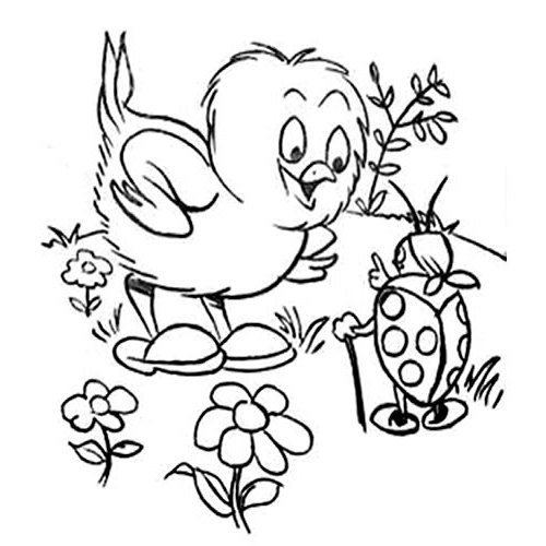 500x500 Spring Clipart Black And White