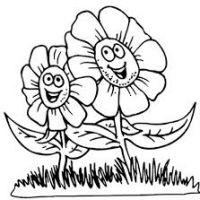 200x200 Spring Flower Drawings