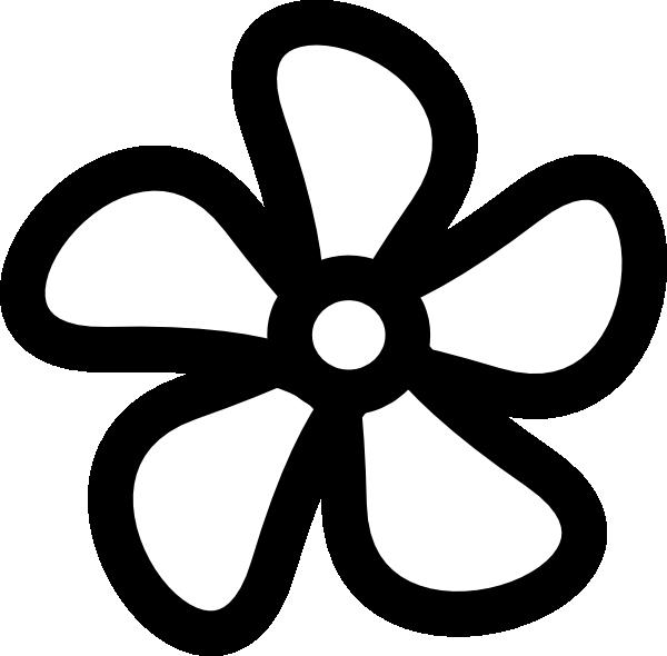 Black Flower Clip Art At Clker Com: Spring Flowers Clipart Black And White
