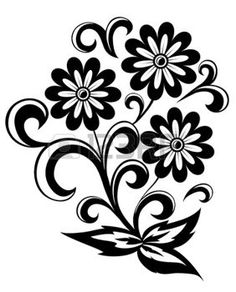 236x292 Free Clip Art Black And White Flowers Flower Flourishes Clipart