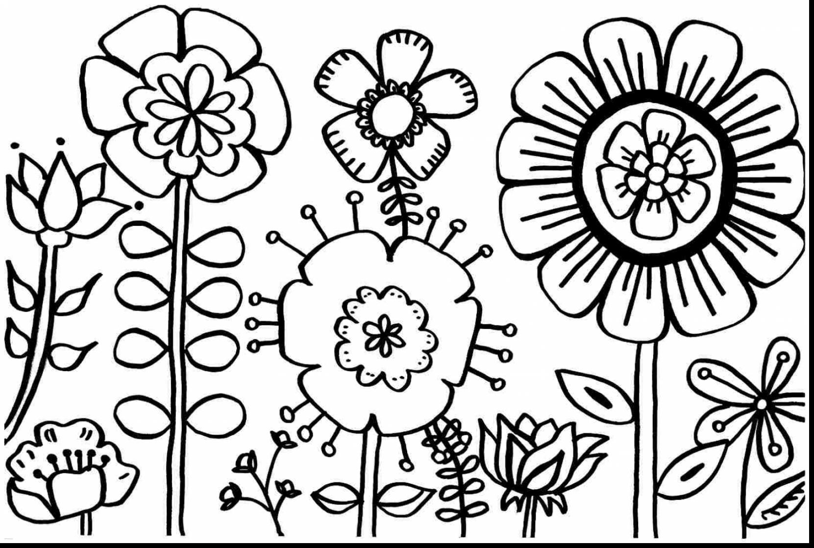 spring flowers clipart black and white free download