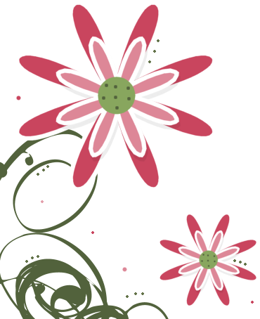 370x454 Pink White Swirly Flower Clip Art