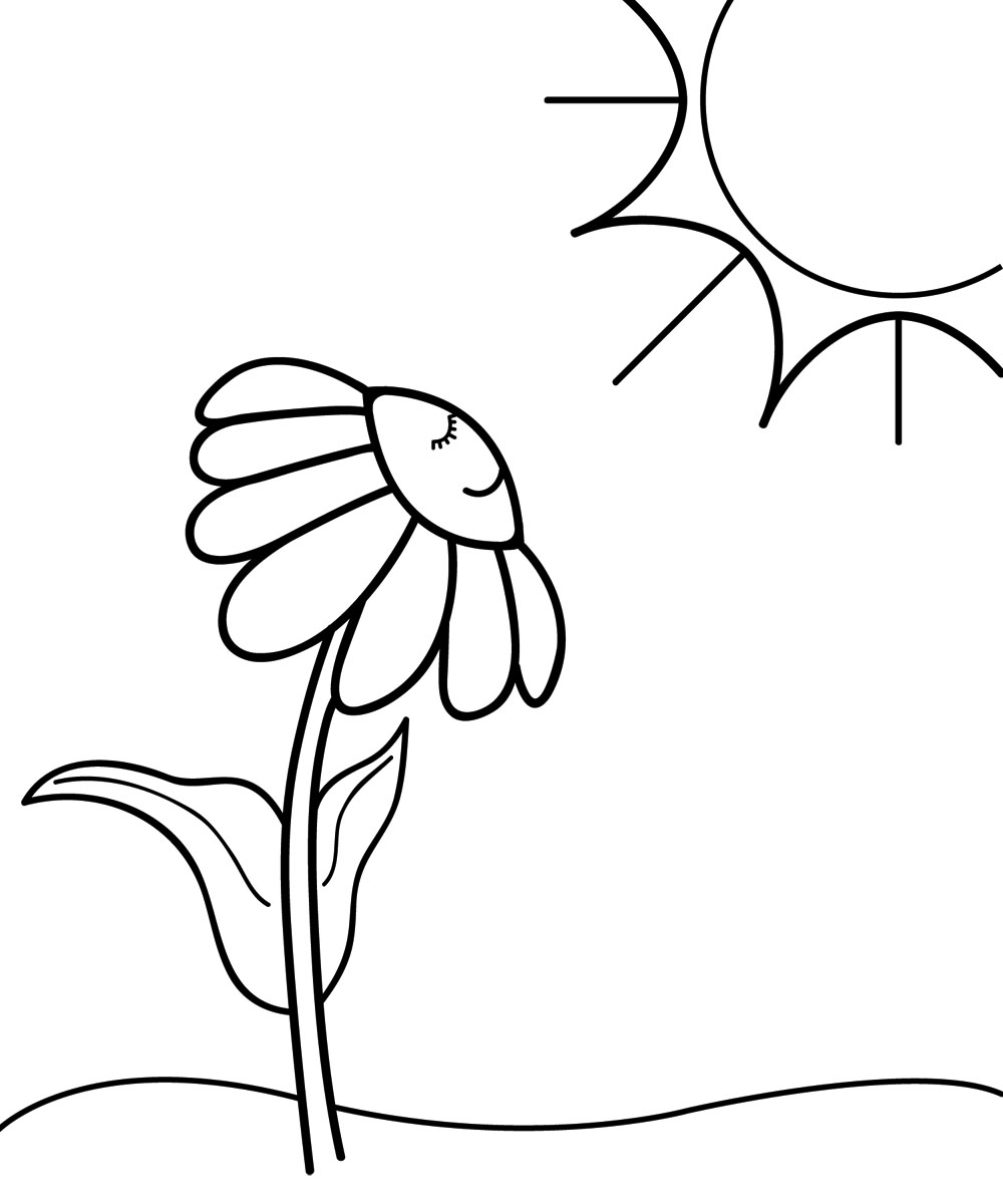 1000x1200 Spring Clip Art Black And White Free
