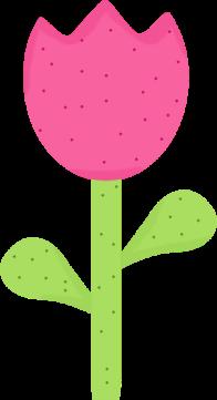 196x361 Spring Polka Dot Tulip Clip Art