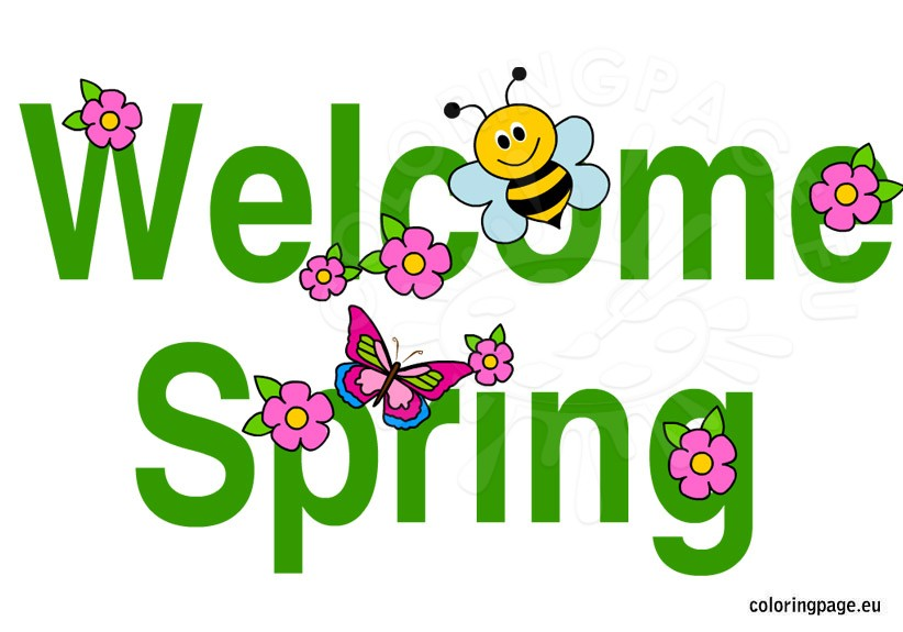 822x575 Welcome Spring Clip Art