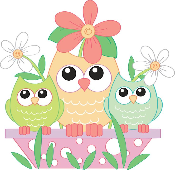 April owl. Spring clipart free download