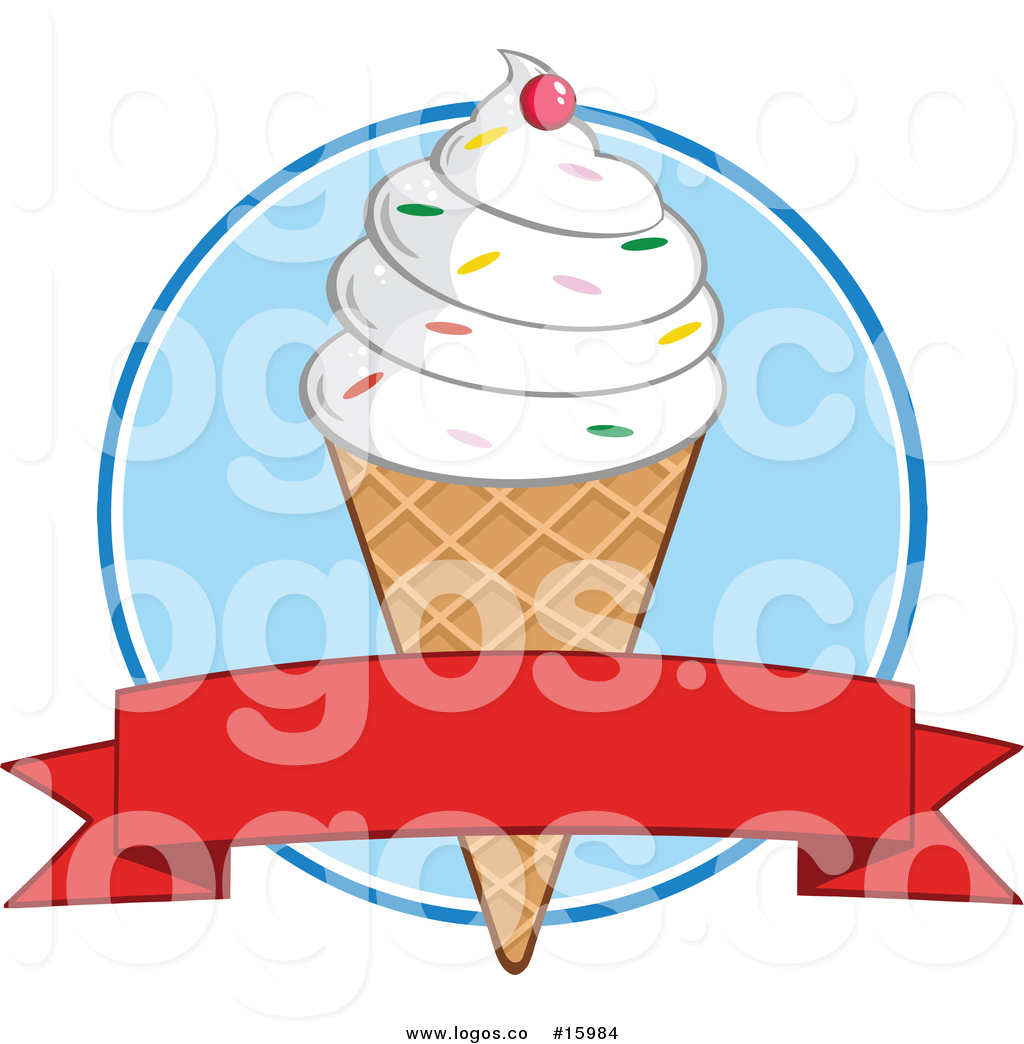 1024x1044 Royalty Free Vector Logo Of A Waffle Ice Cream Cone With Vanilla