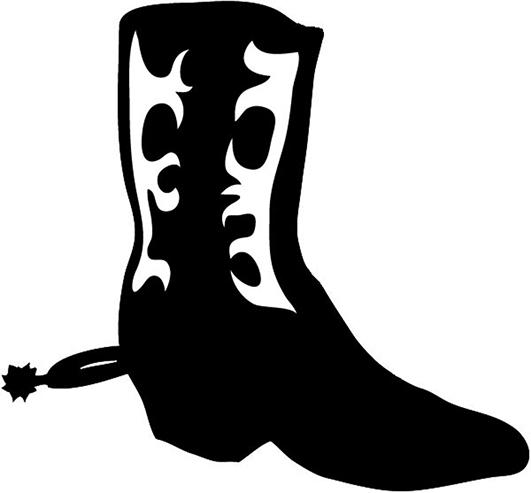 531x493 Cowboy Boot Freewboy Boot Clip Art Clip Art Vector