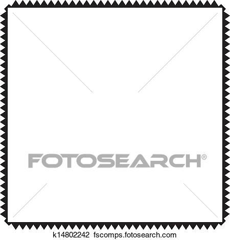 450x470 Clipart Of Zig Zag Frame Square Inside K14802242