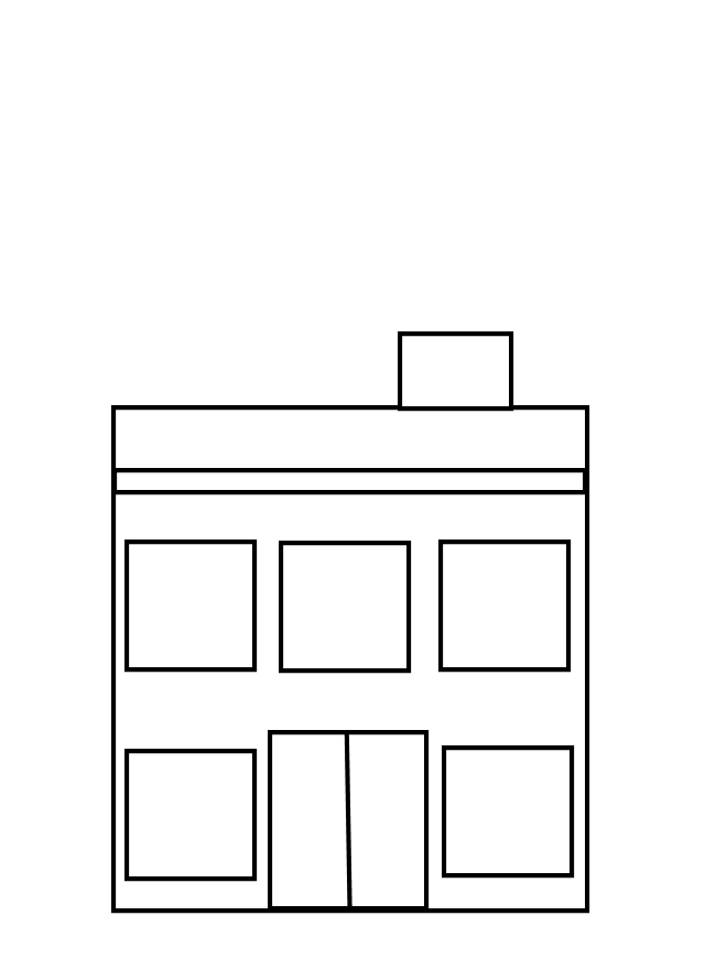 640x881 Building Clipart Black And White