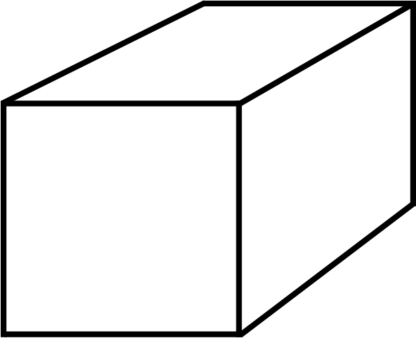 600x488 Cube Clipart Black And White
