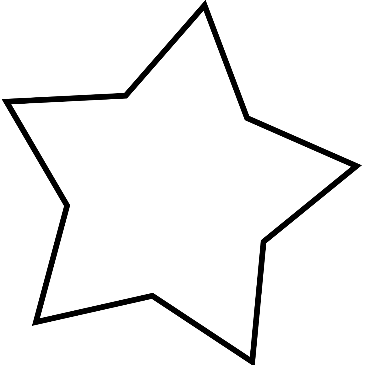 1264x1264 Star Clipart Black And White