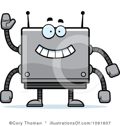 400x420 Square Clip Art Black And White Royalty Free Square Robot Clipart