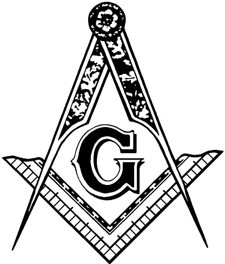 748x879 Black And White Masonic Clip Art