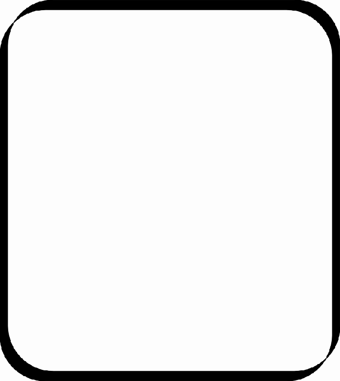 700x786 Black And White Square Clipart