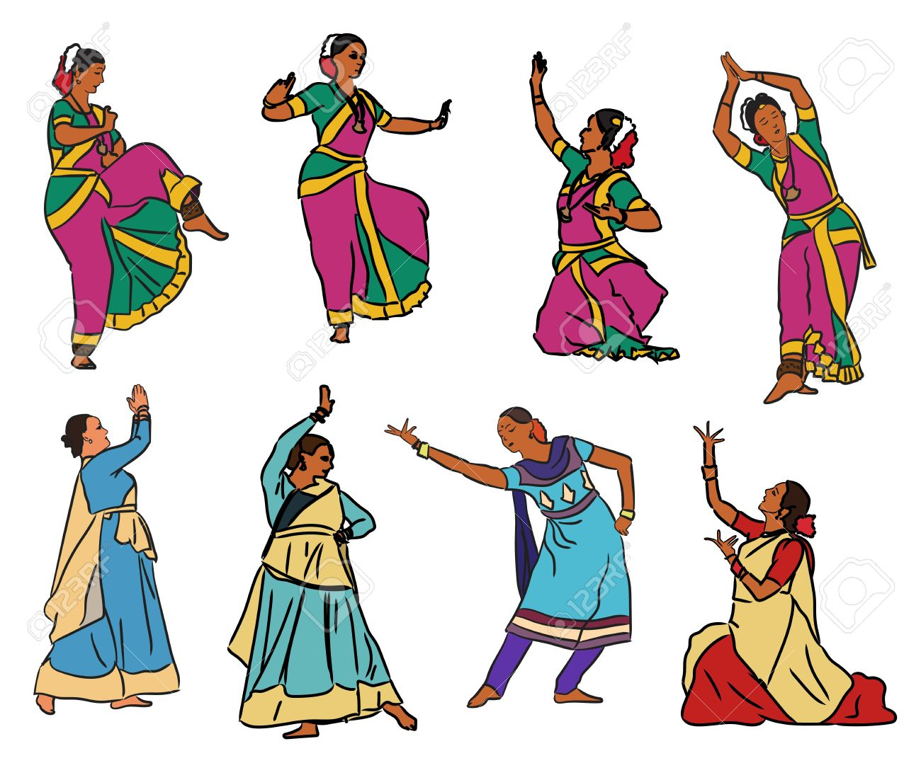 1300x1078 17,653 Traditional Dance Cliparts, Stock Vector And Royalty Free