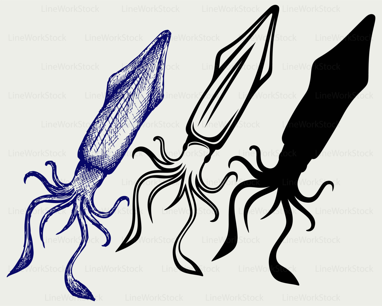 1500x1200 Squid Svg,squid Clipart,squid Svg,squid Silhouette,squid Cricut