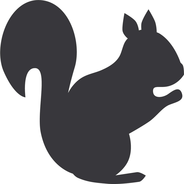 736x736 Squirrel Black And White Squirrel Silhouette 7 Clip Art