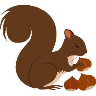 325x325 Squirrel Black And White Squirrel Clipart Black And White Image 1