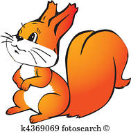 189x194 Red Squirrel Clip Art Eps Images. 570 Red Squirrel Clipart Vector