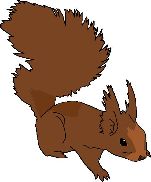 492x593 Cartoon Squirrel Clip Art