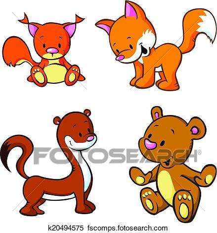 439x470 Clip Art Of Squirrel U10802766